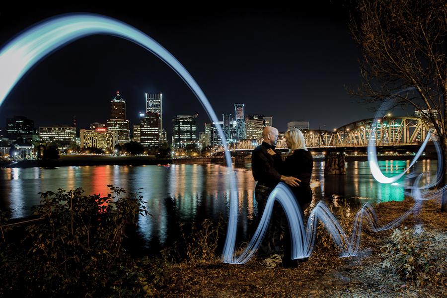 portland city lights night creative