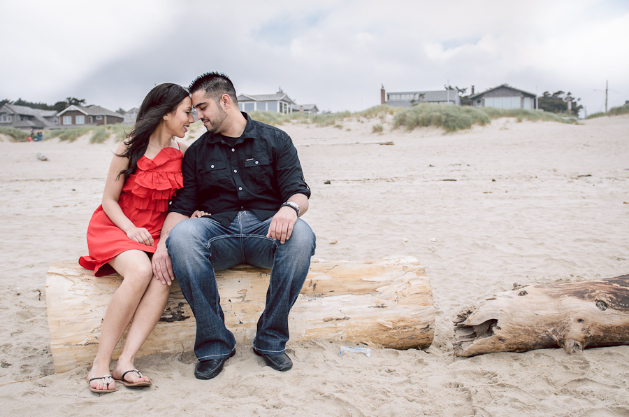 beach couple engagements