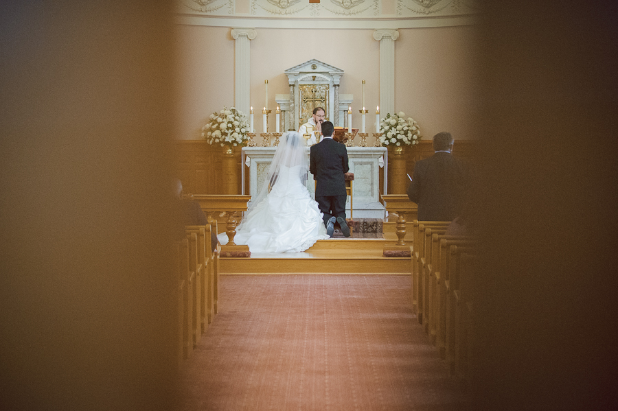 bride groom catholic mass