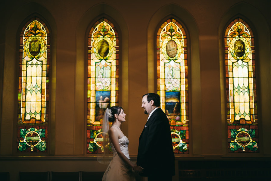 first methodist church bride groom portrait