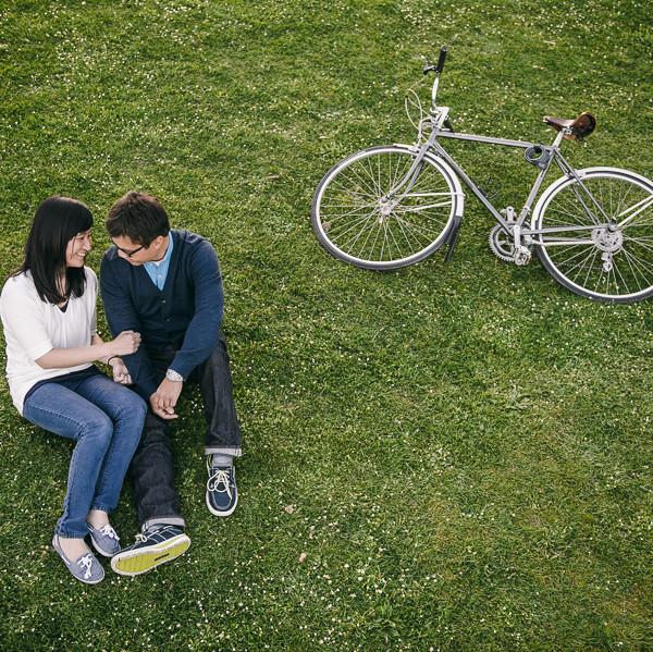 Greenlake Park Enagement - Nora & Ponet