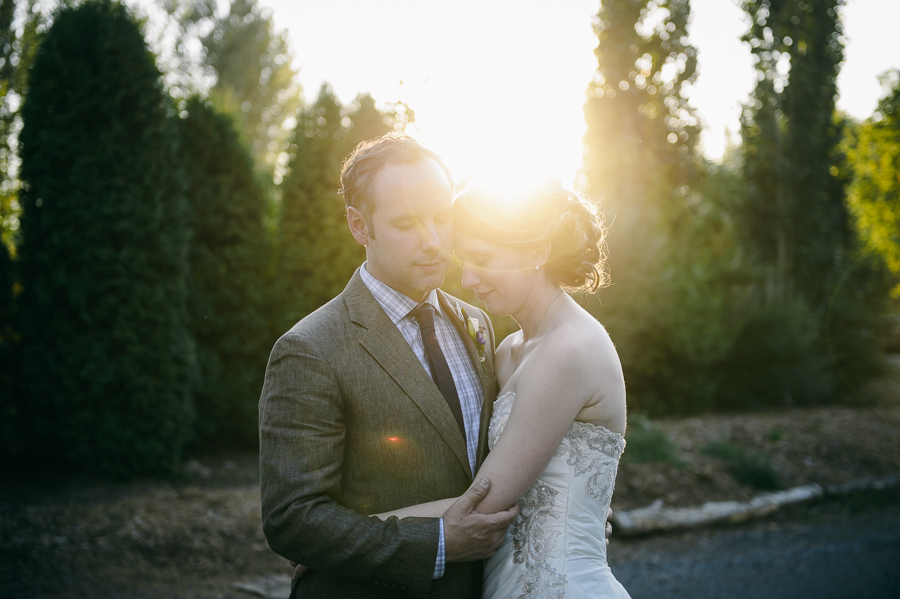 Seattle sunset wedding