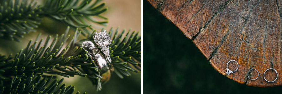 17 evergreen trees wedding rings