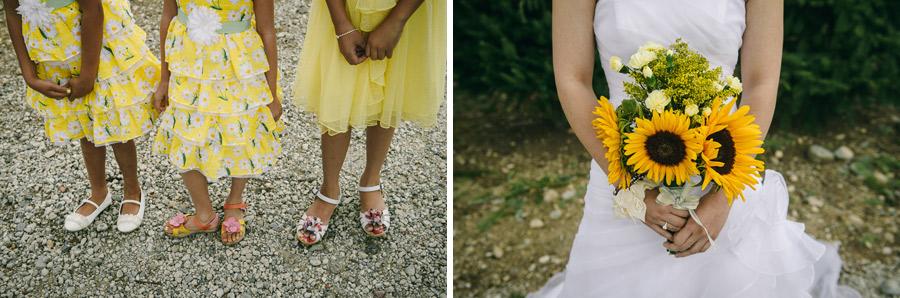 20 wedding sunflower and flower girls