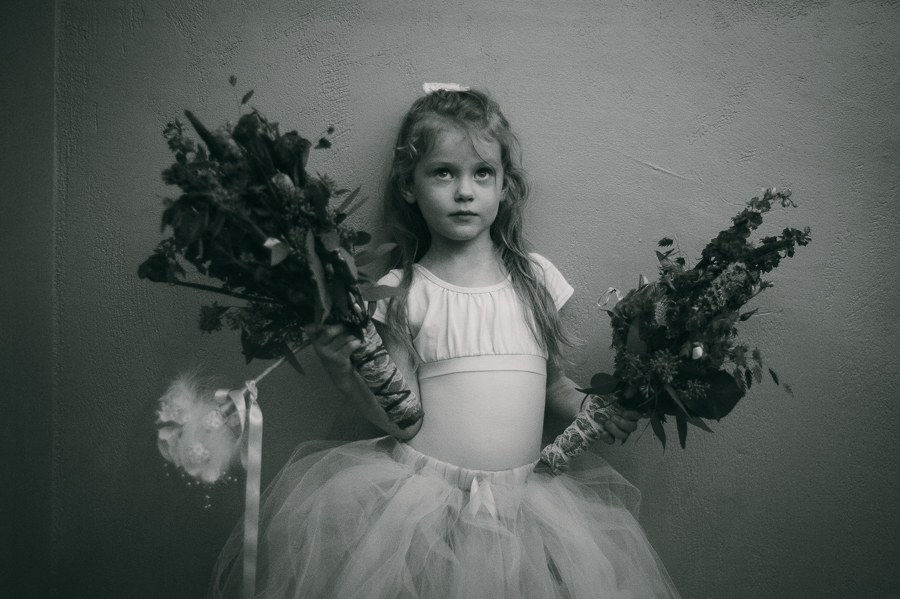 cute flower girl portrait