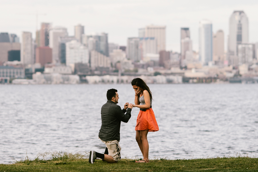 1 Alki Beach Wedding Proposal Engagement