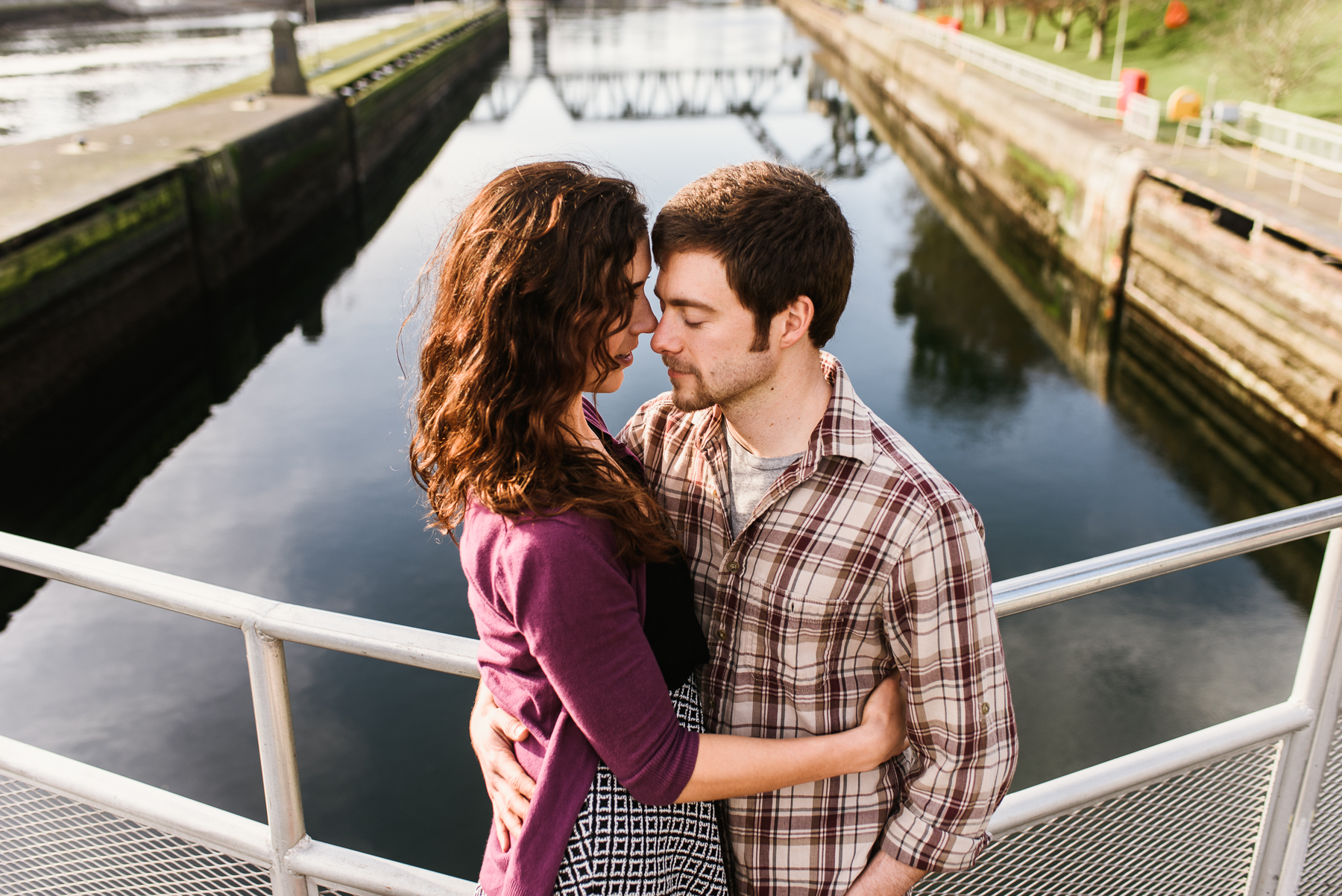 ballard locks engagement session