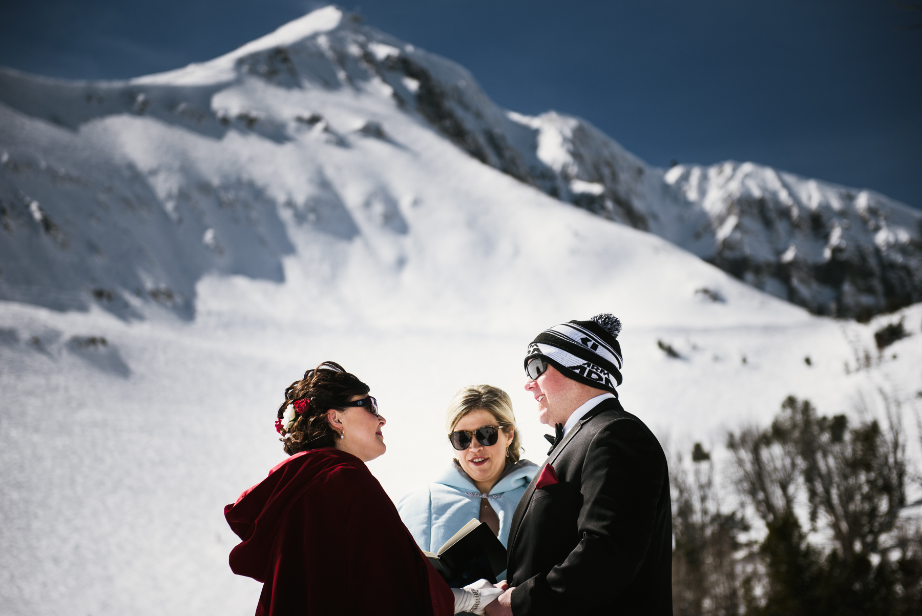 big sky mountain wedding