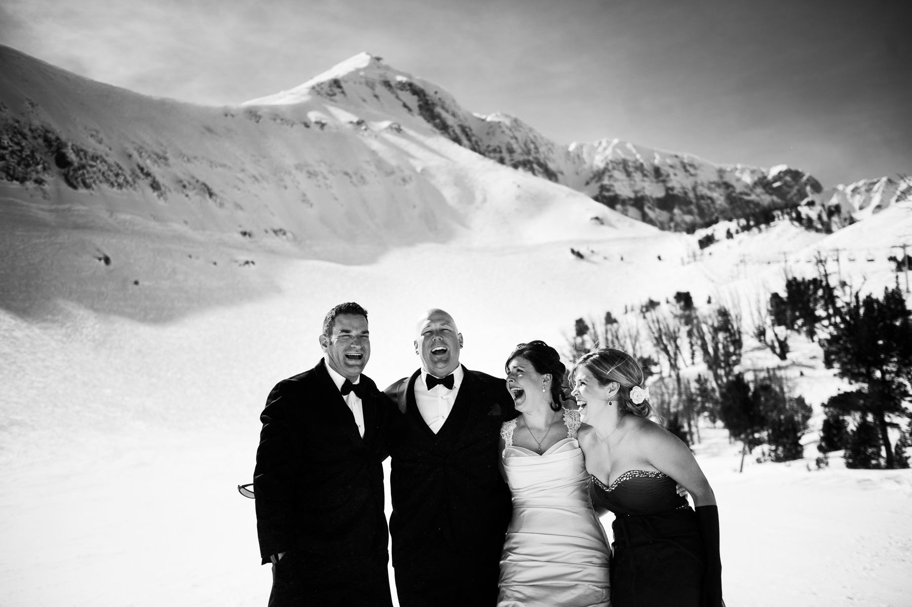 bridal party big sky mountain