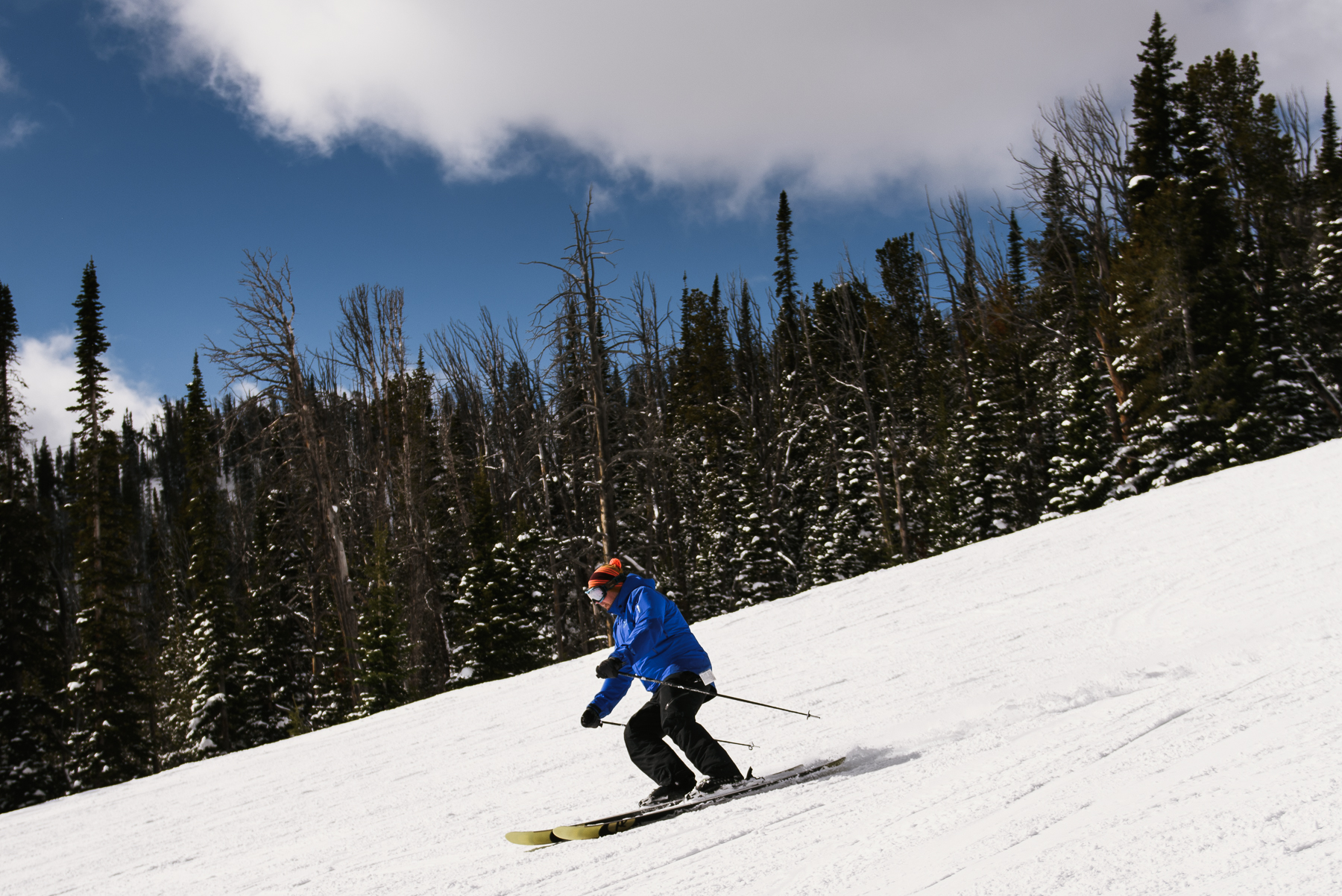 groom ski down big sky