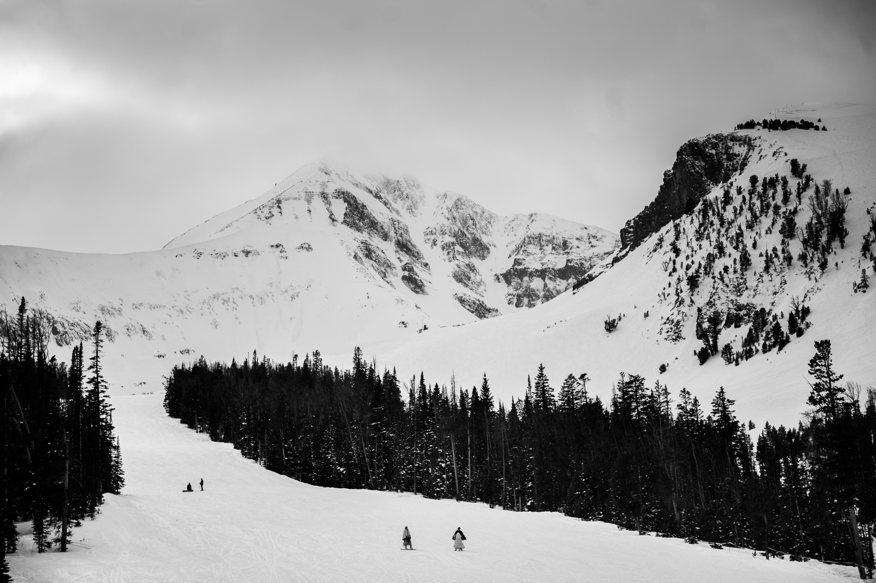 big sky wedding skiing