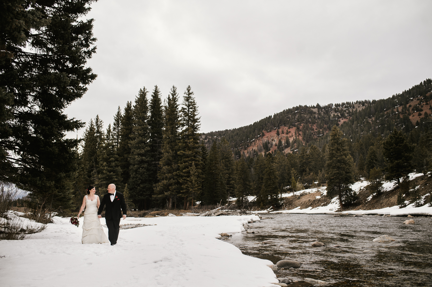 rainbow ranch wedding river