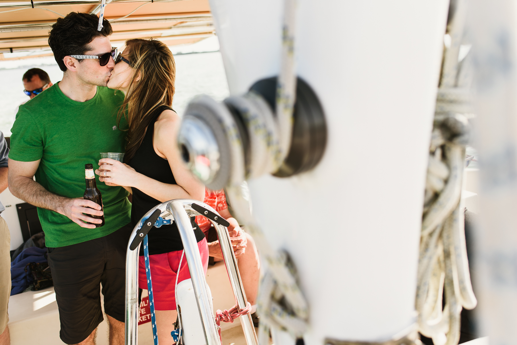 captiva cruise couple kissing