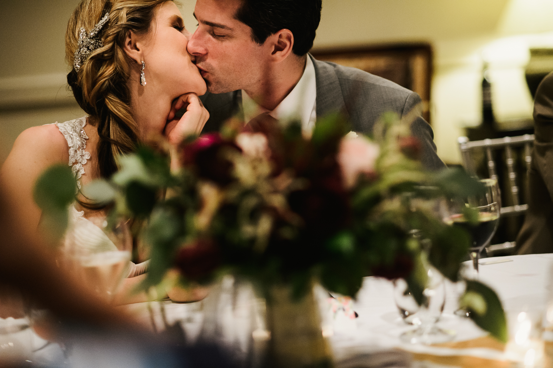 sanible marriott wedding reception couple kissing