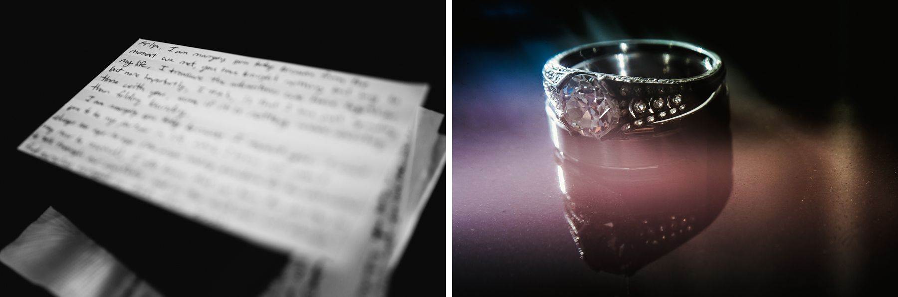 creative wedding rings shot