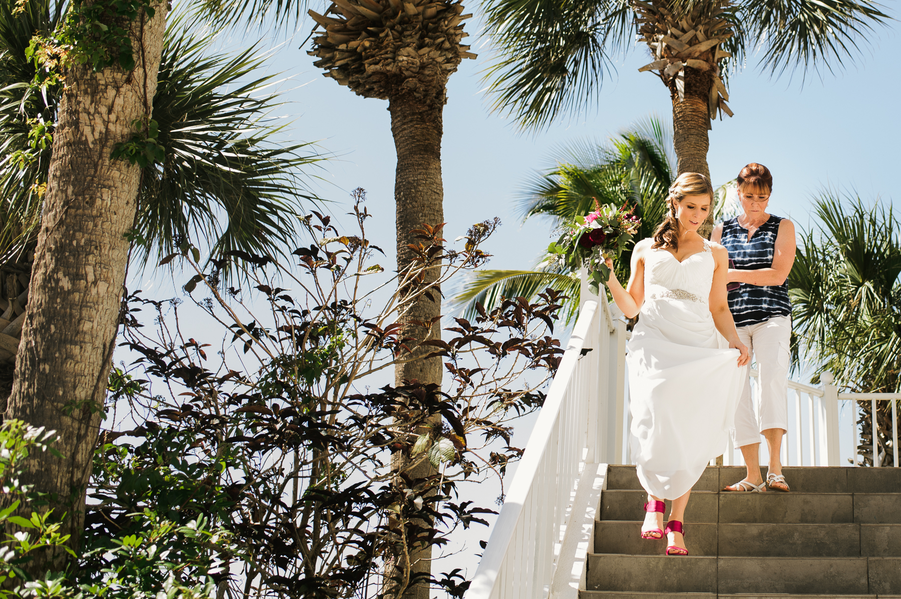 florida destination wedding bride and mom