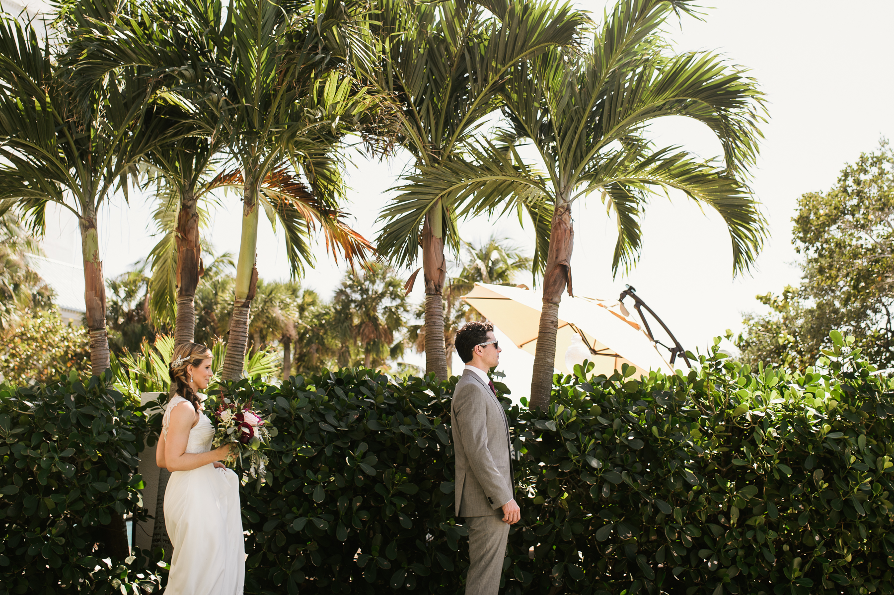 florida destination wedding first look
