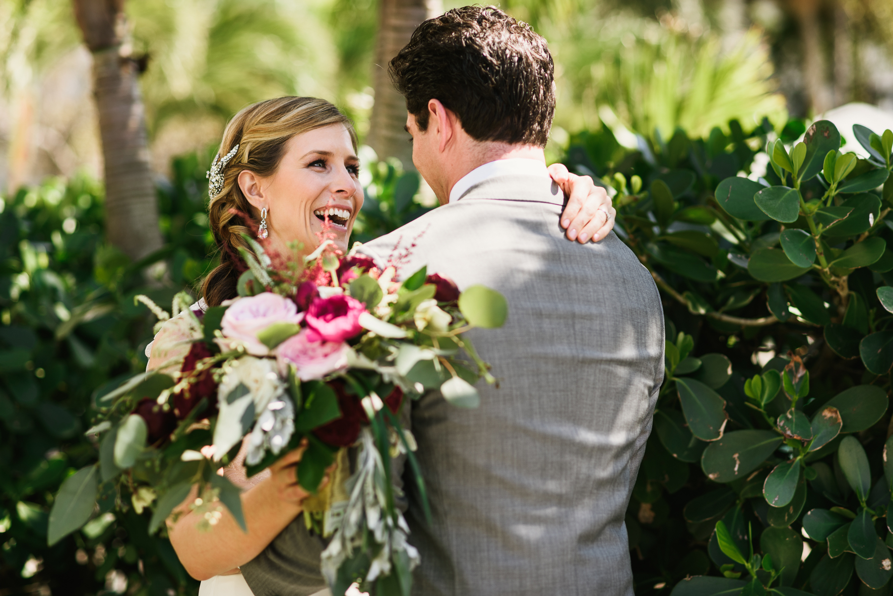 sanibel marriott first look bride reaction