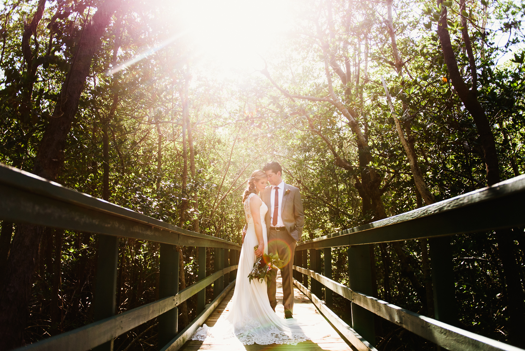 sanibel marriott wedding board walk portrait