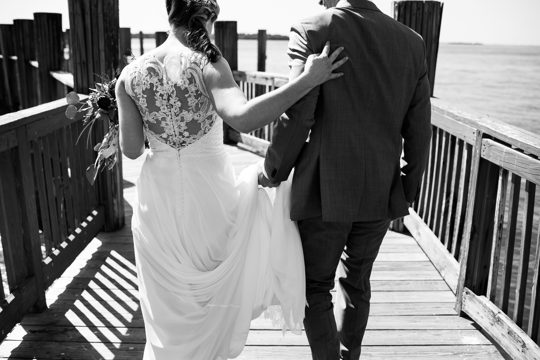 sanibel marriott pier wedding moment