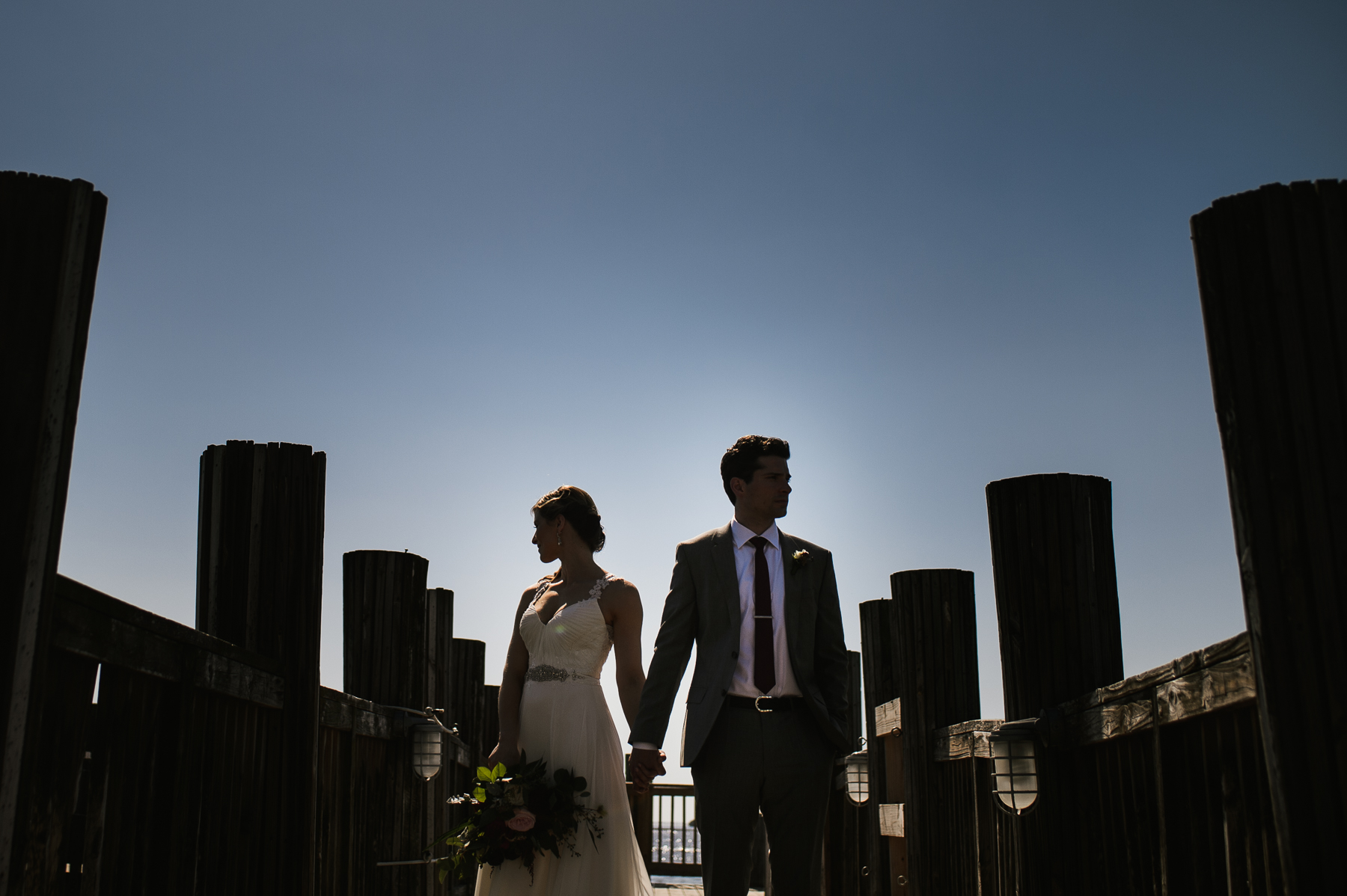 sanibel marriott pier wedding silhouette