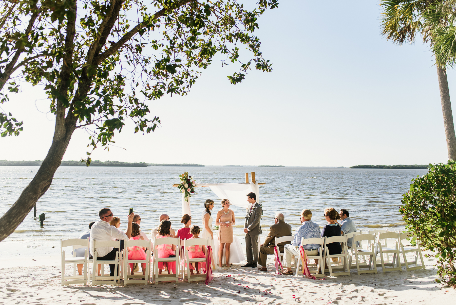 ft. meyers florida beach ceremony wedding