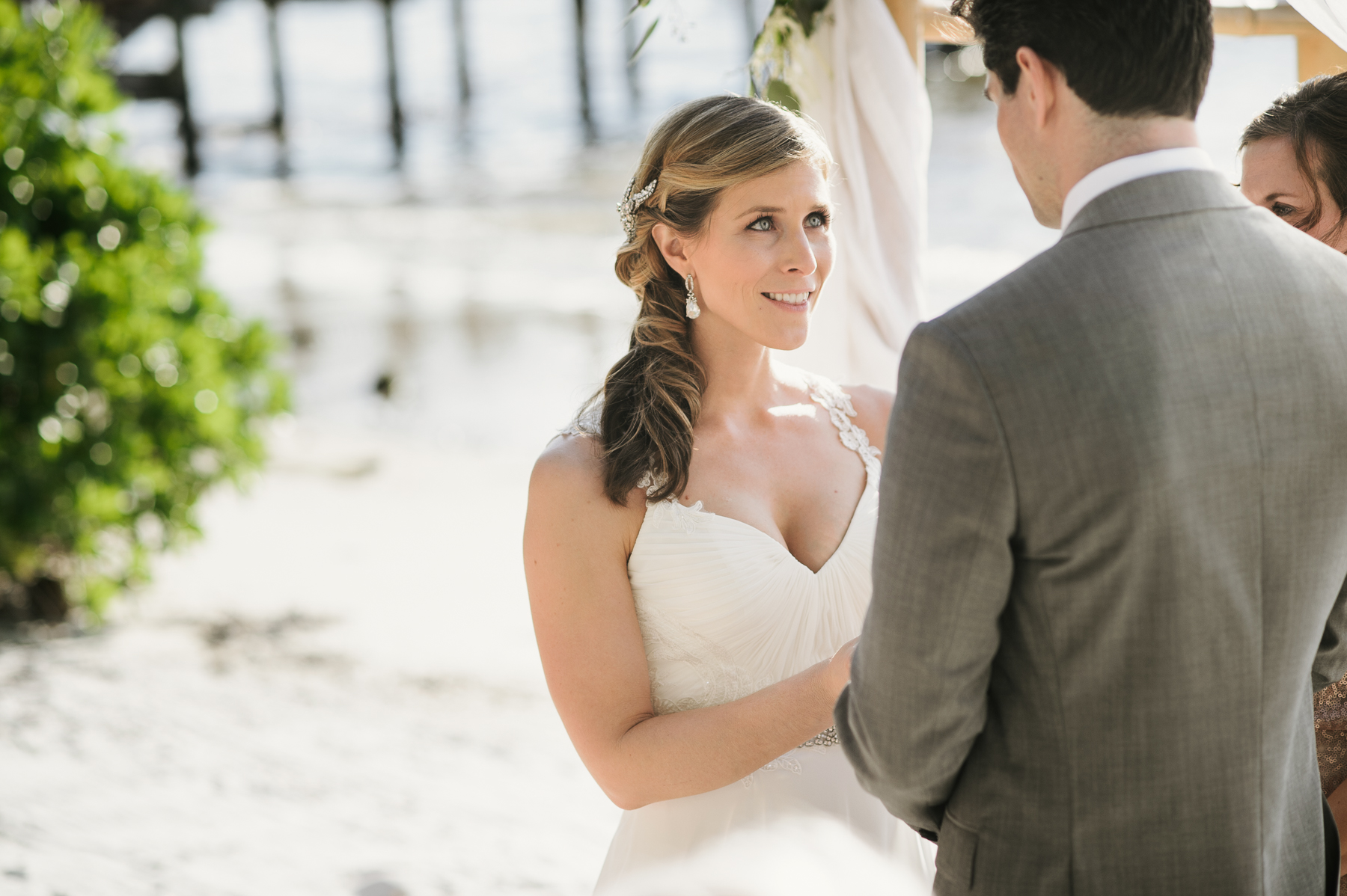 florida beach wedding bride vows