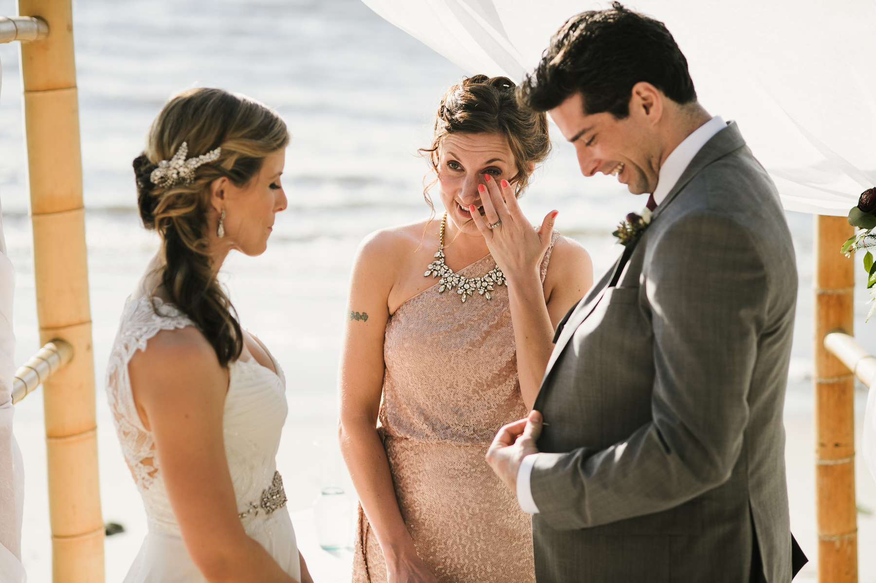 florida wedding crying sister moment