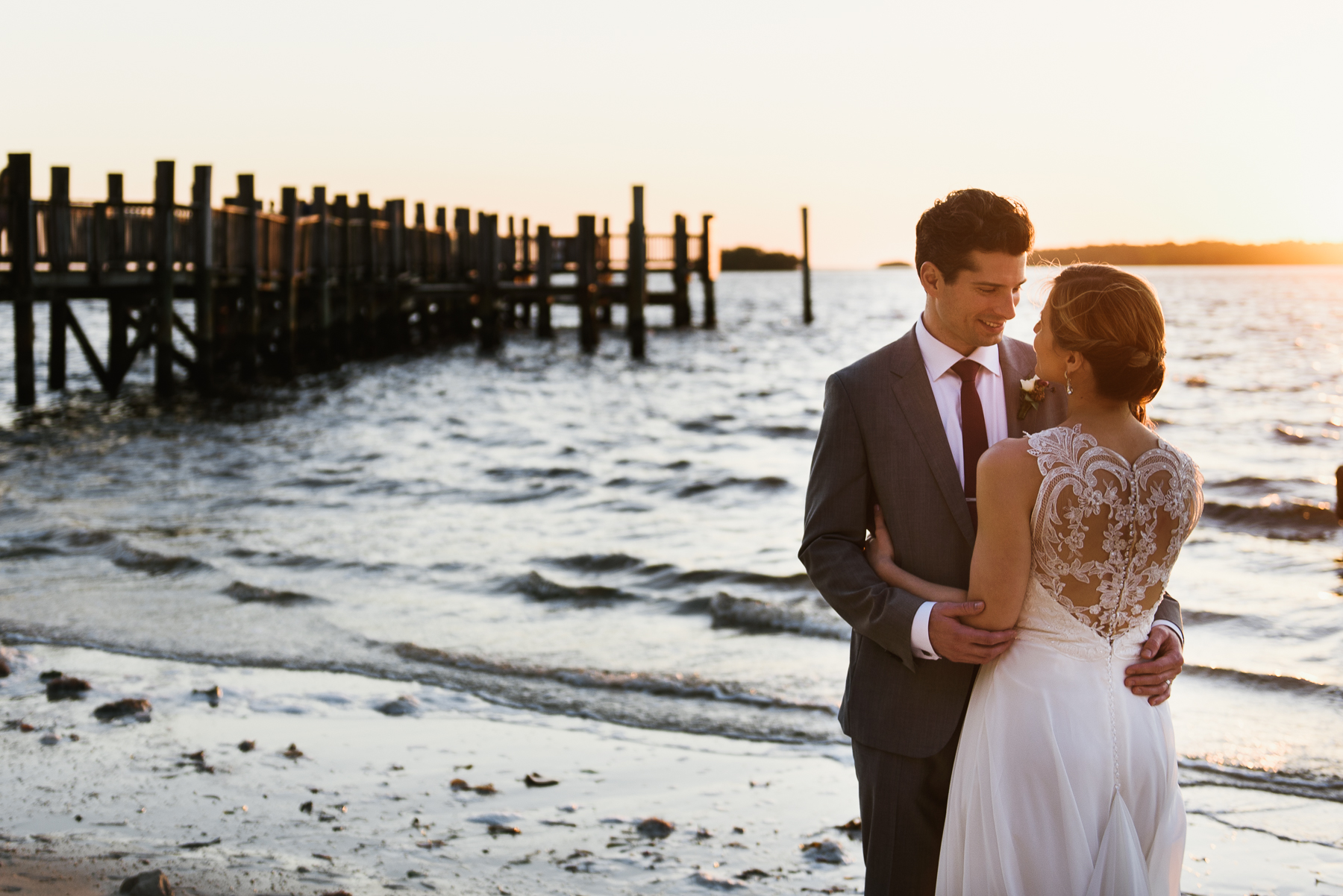 sanibel wedding portrait sunset