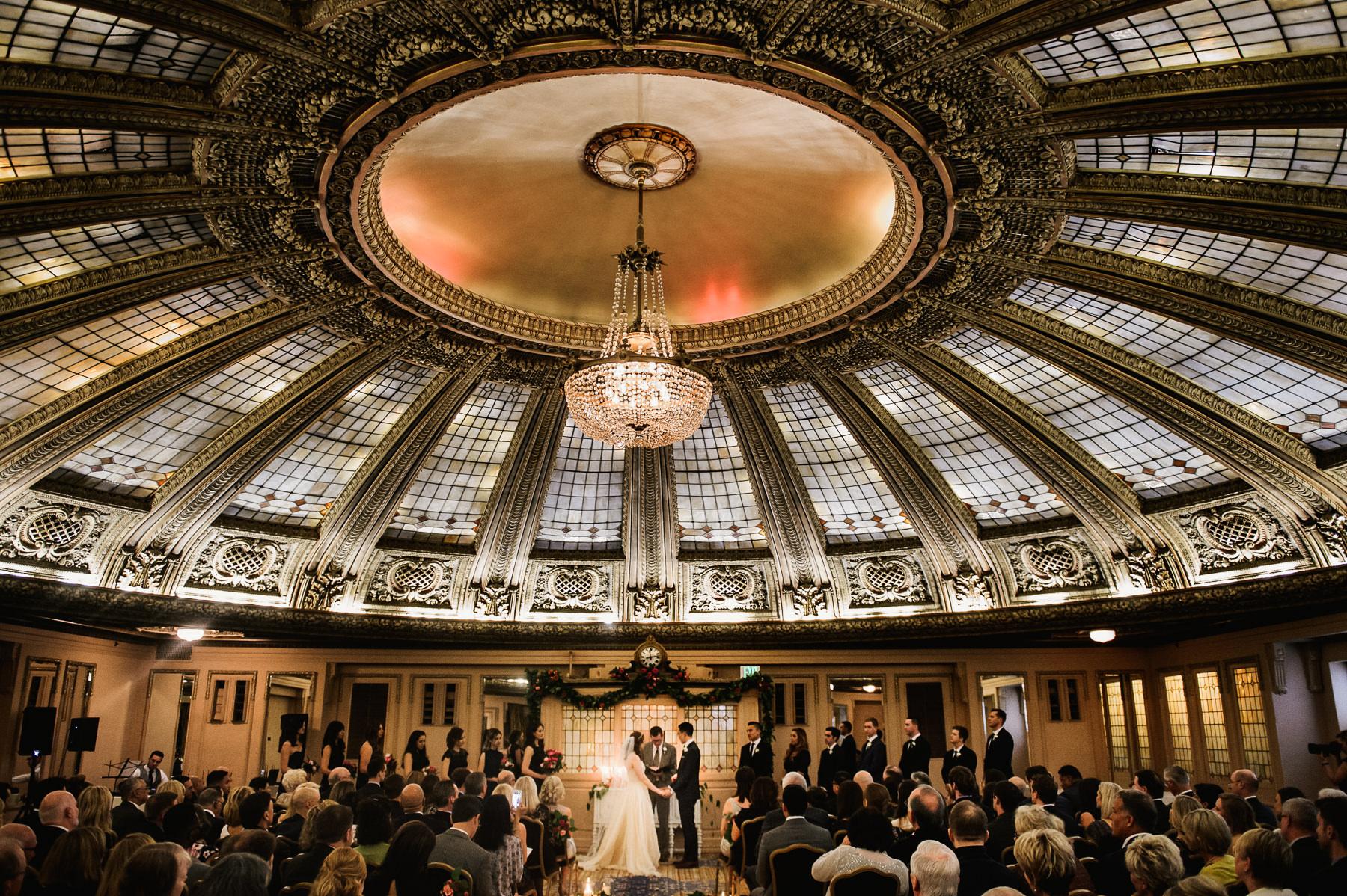 arctic club elegant wedding