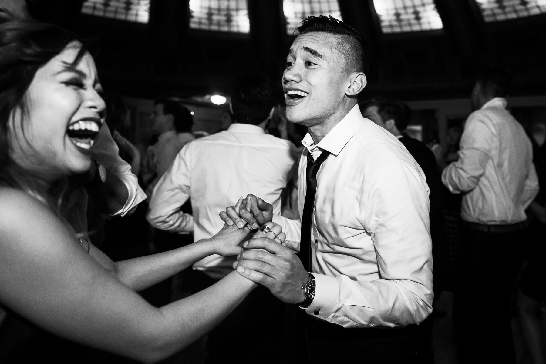 arctic club fun wedding reception