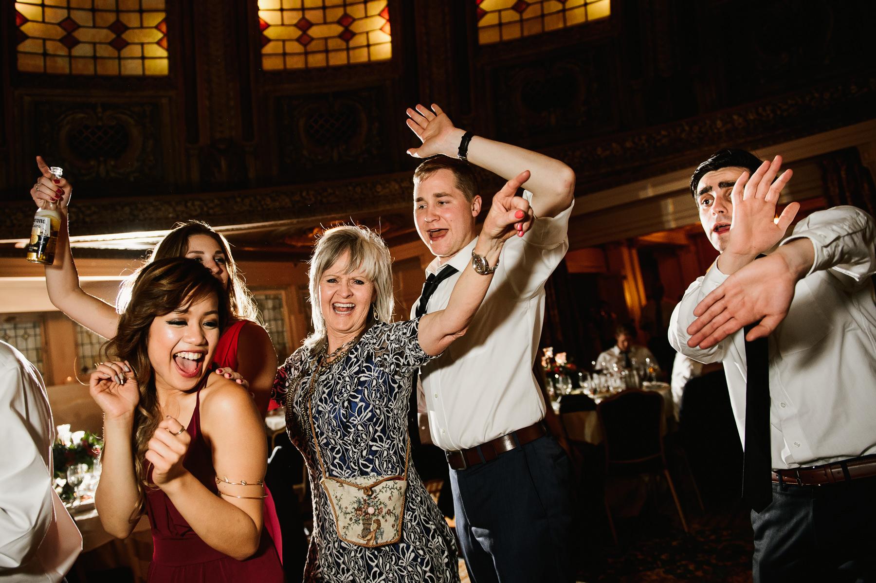 arctic club wedding dance party