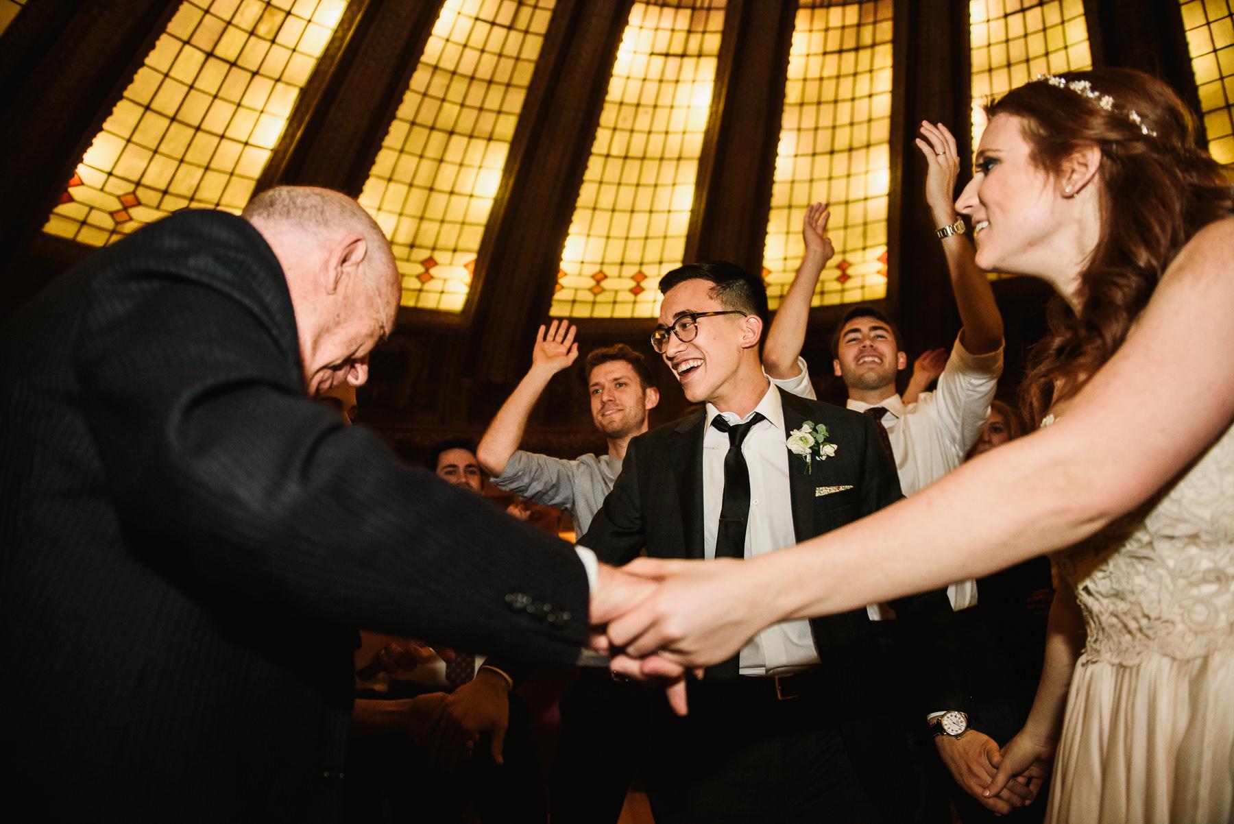 wedding reception grandpa dancing