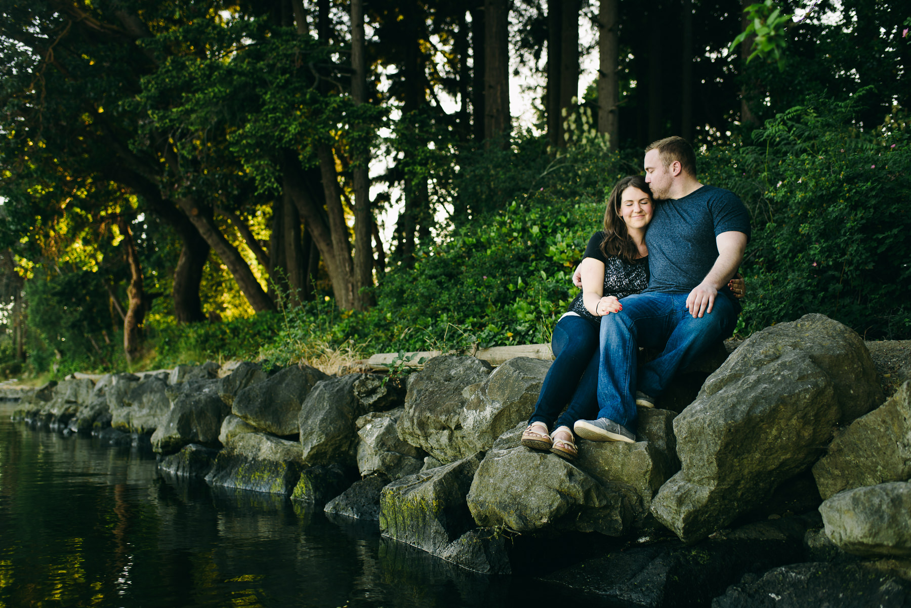 bainbridge island waterfront engagement