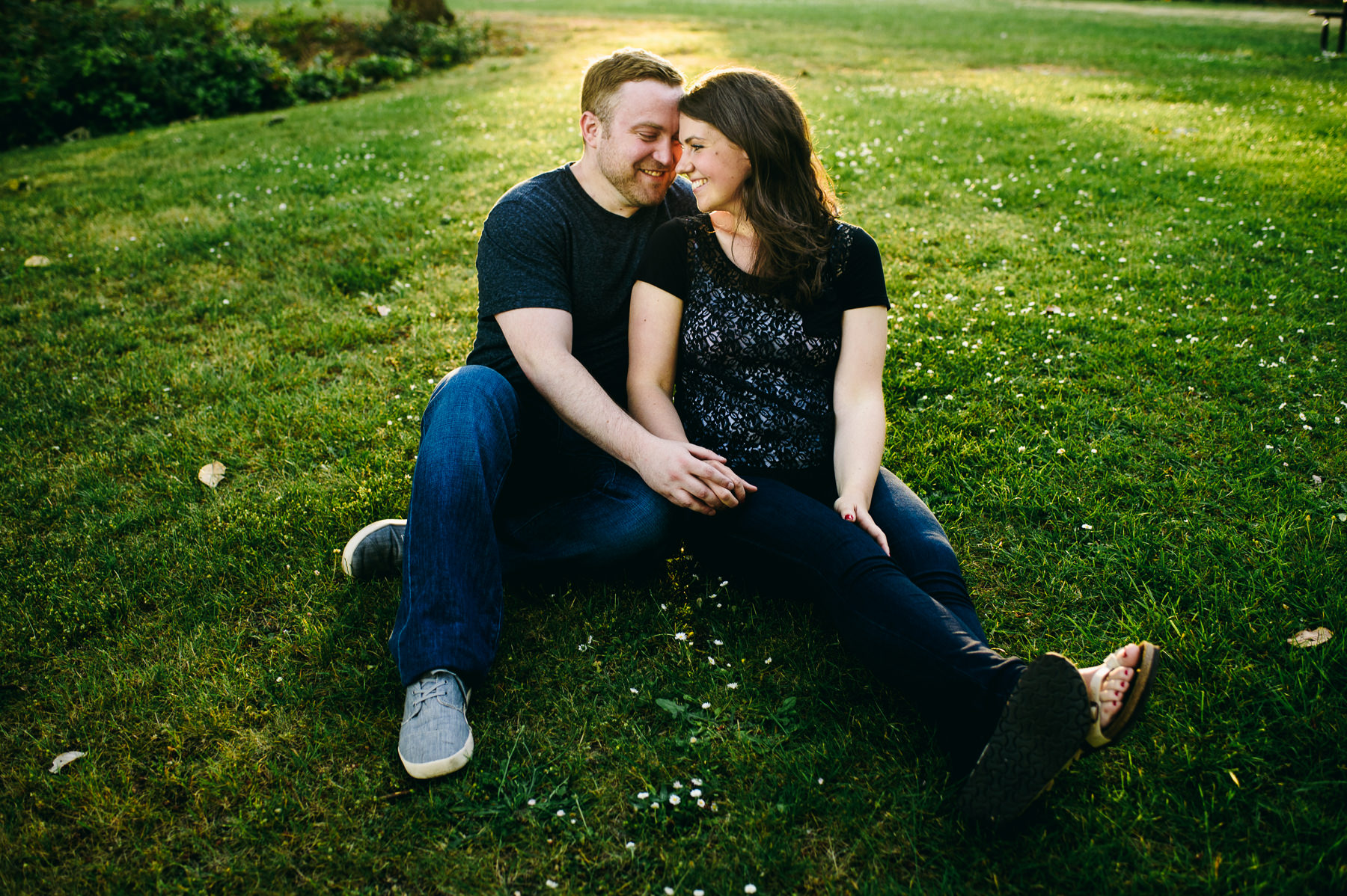 bainbridge island sunset engagement