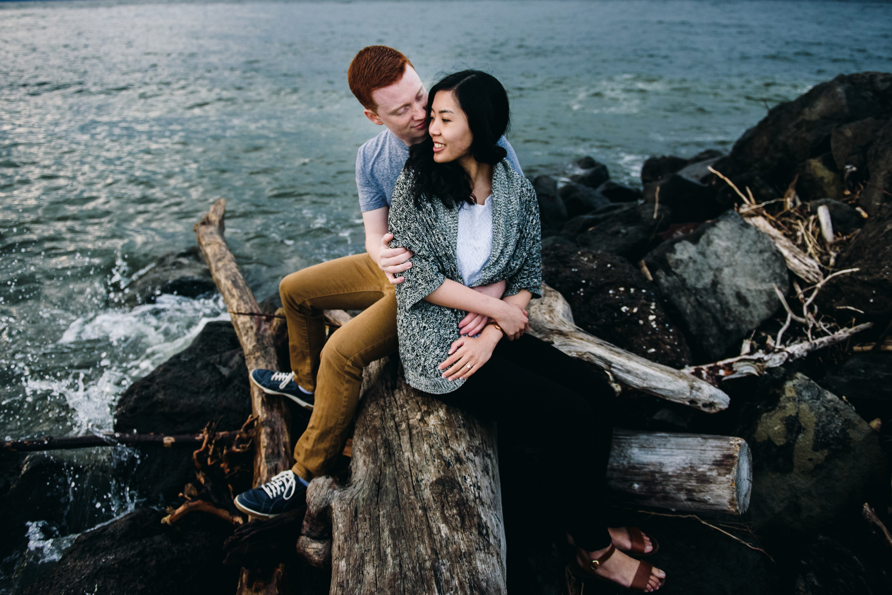 discovery park driftwood engagement