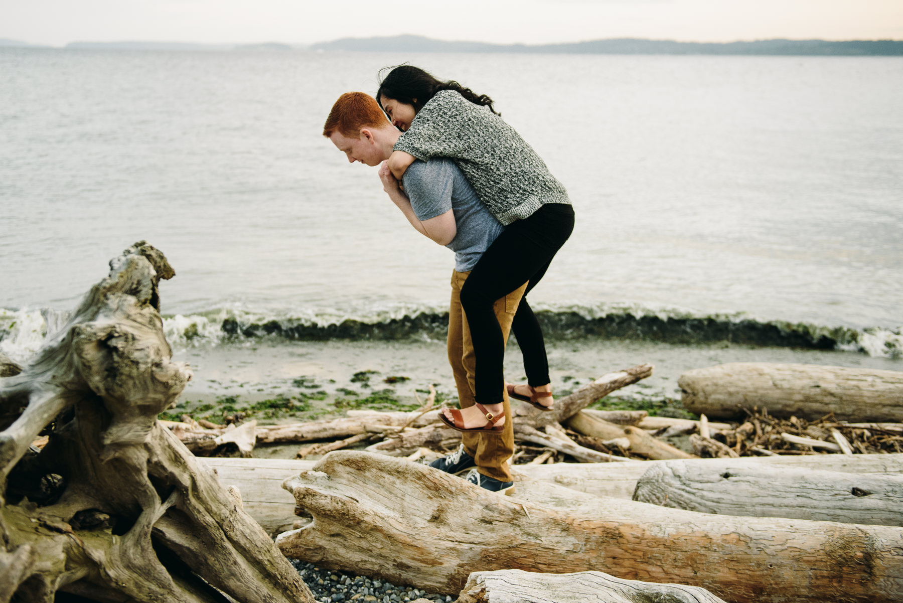 discovery park fun couple engagement
