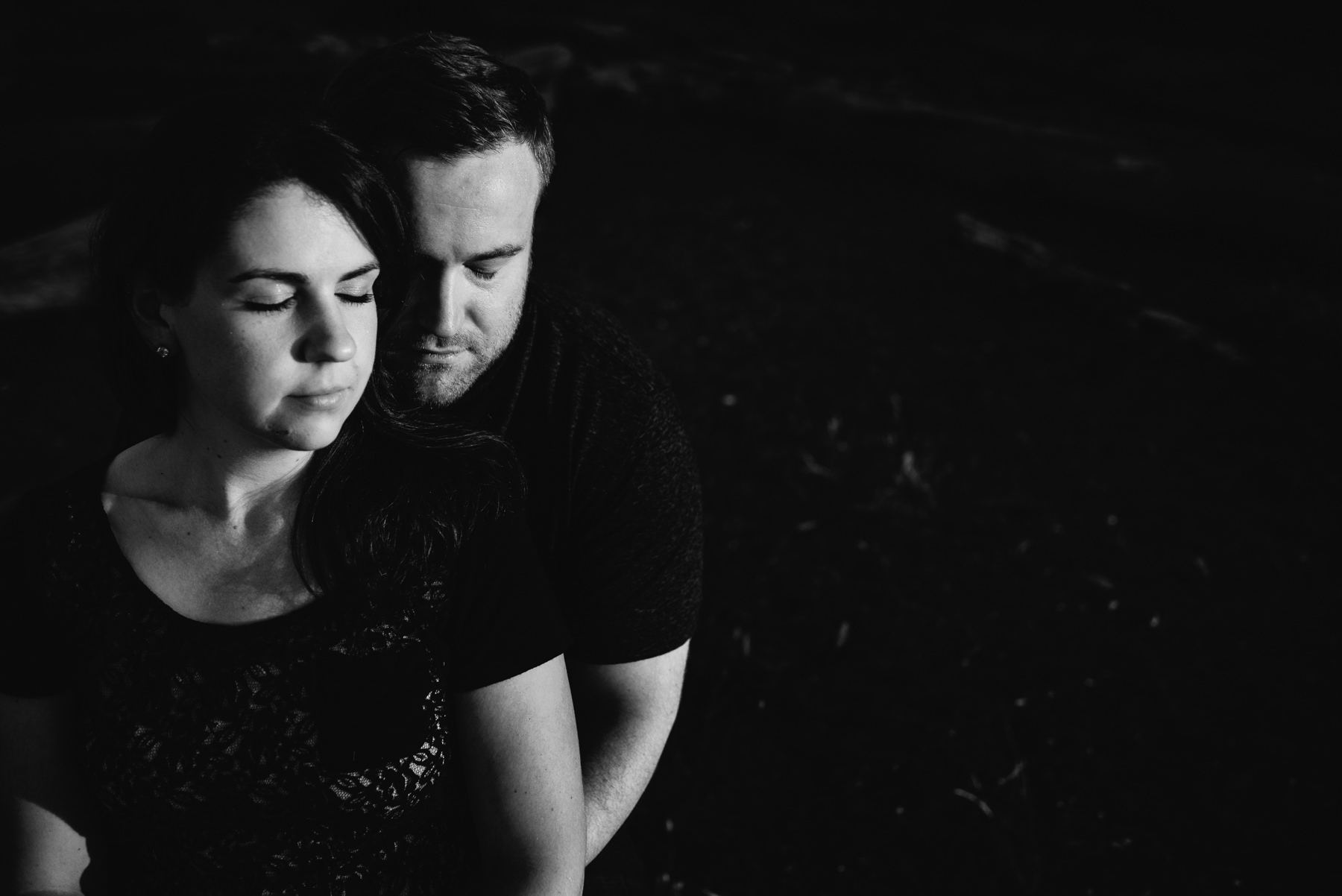fay bainbridge black and white engagement
