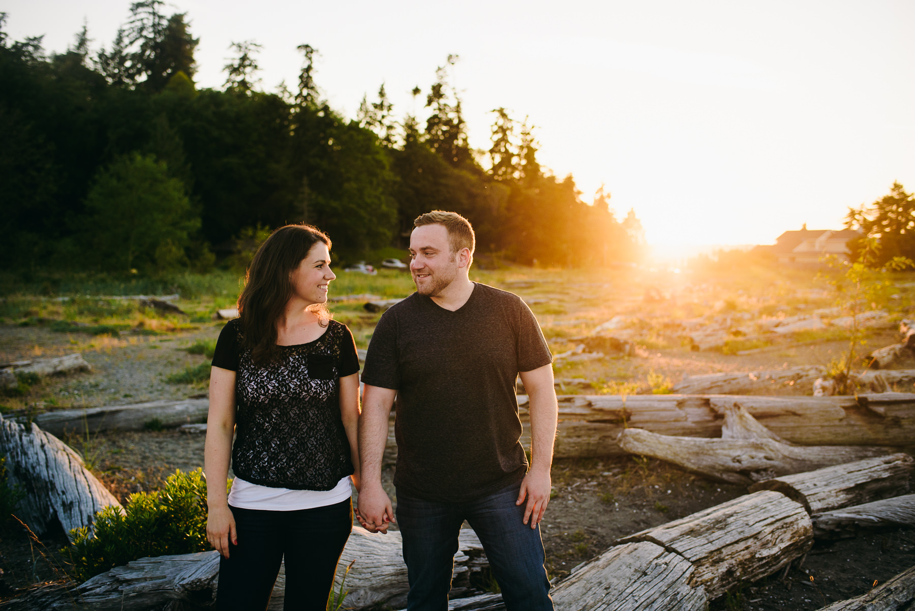 fay bainbridge state park golden hour engagement