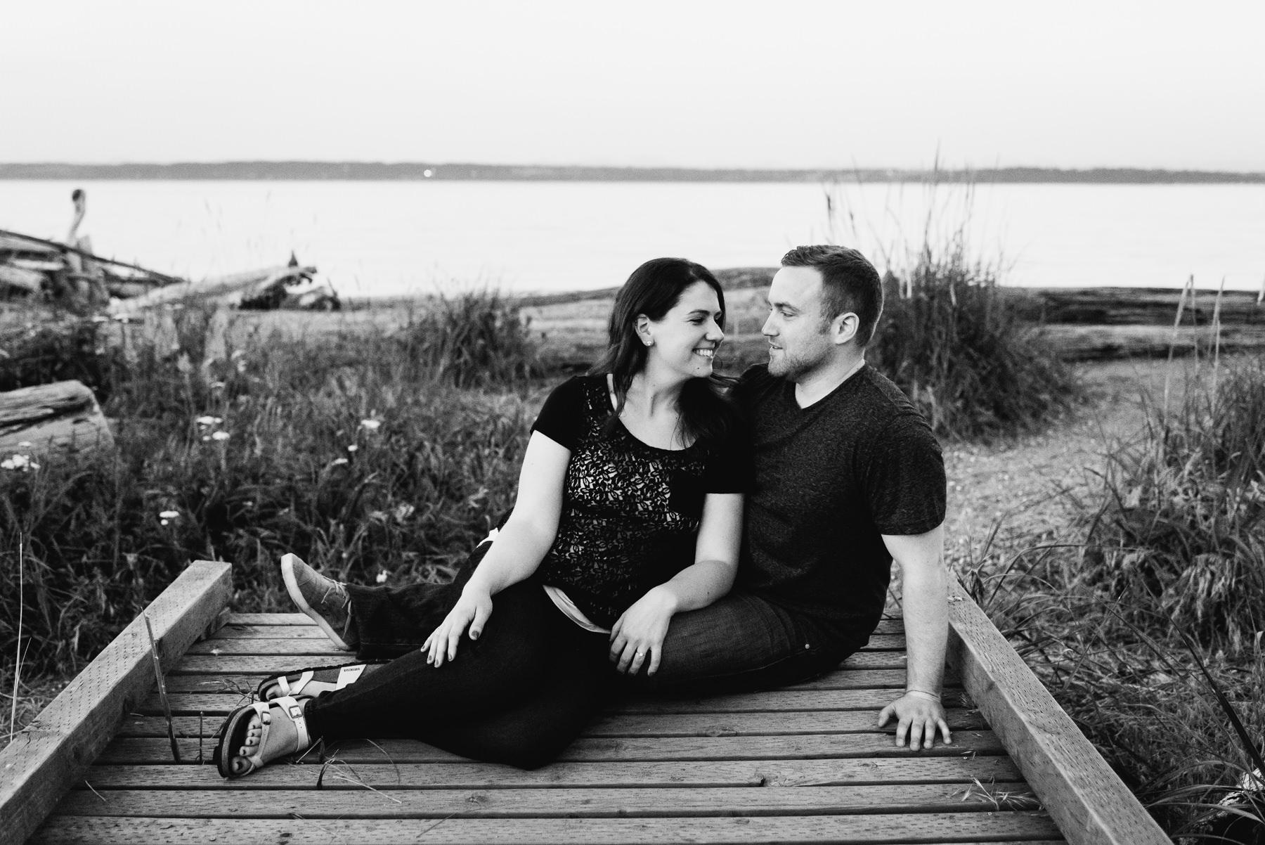fay bainbridge beach couple