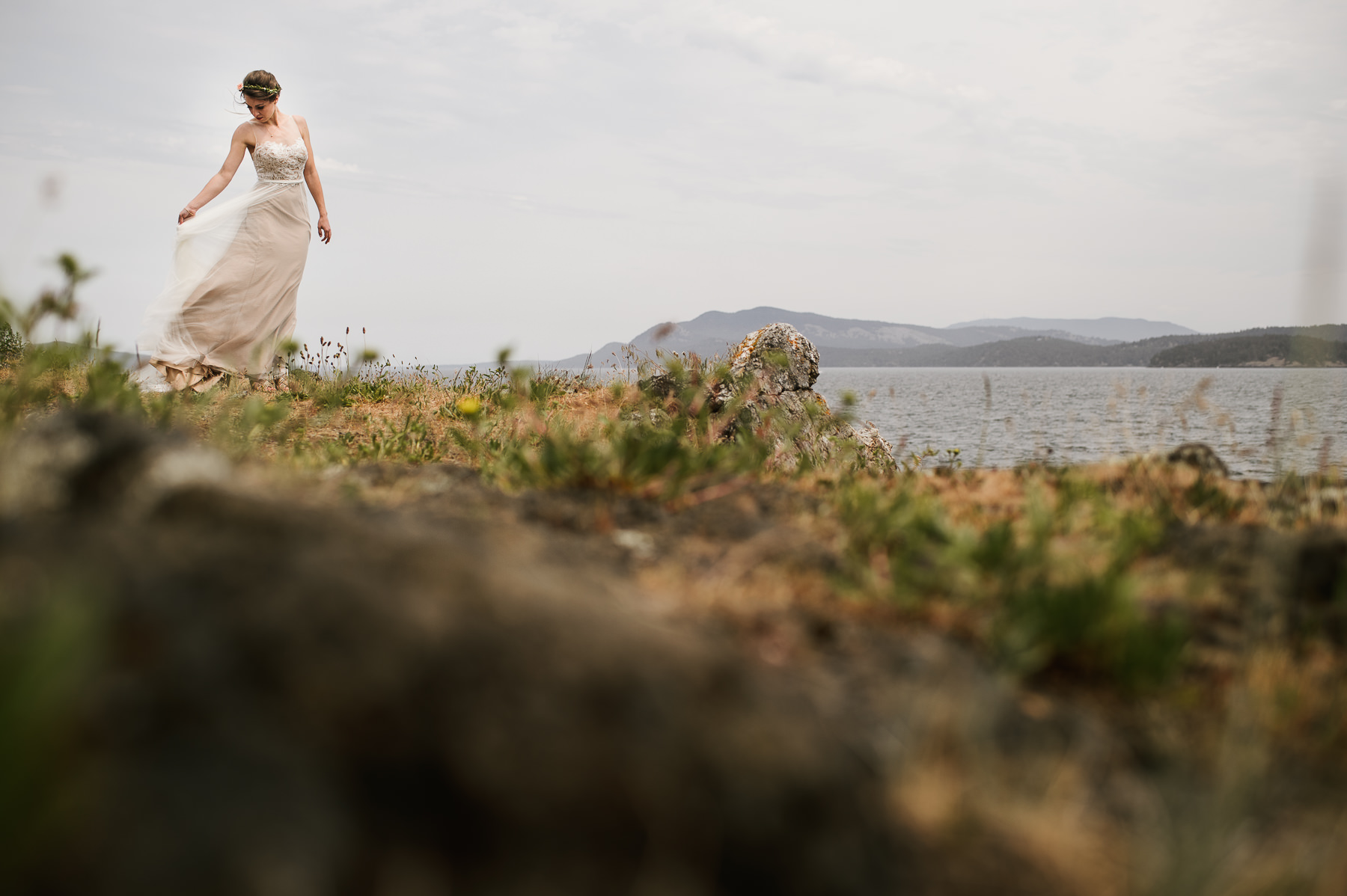 friday harbor bride portrait