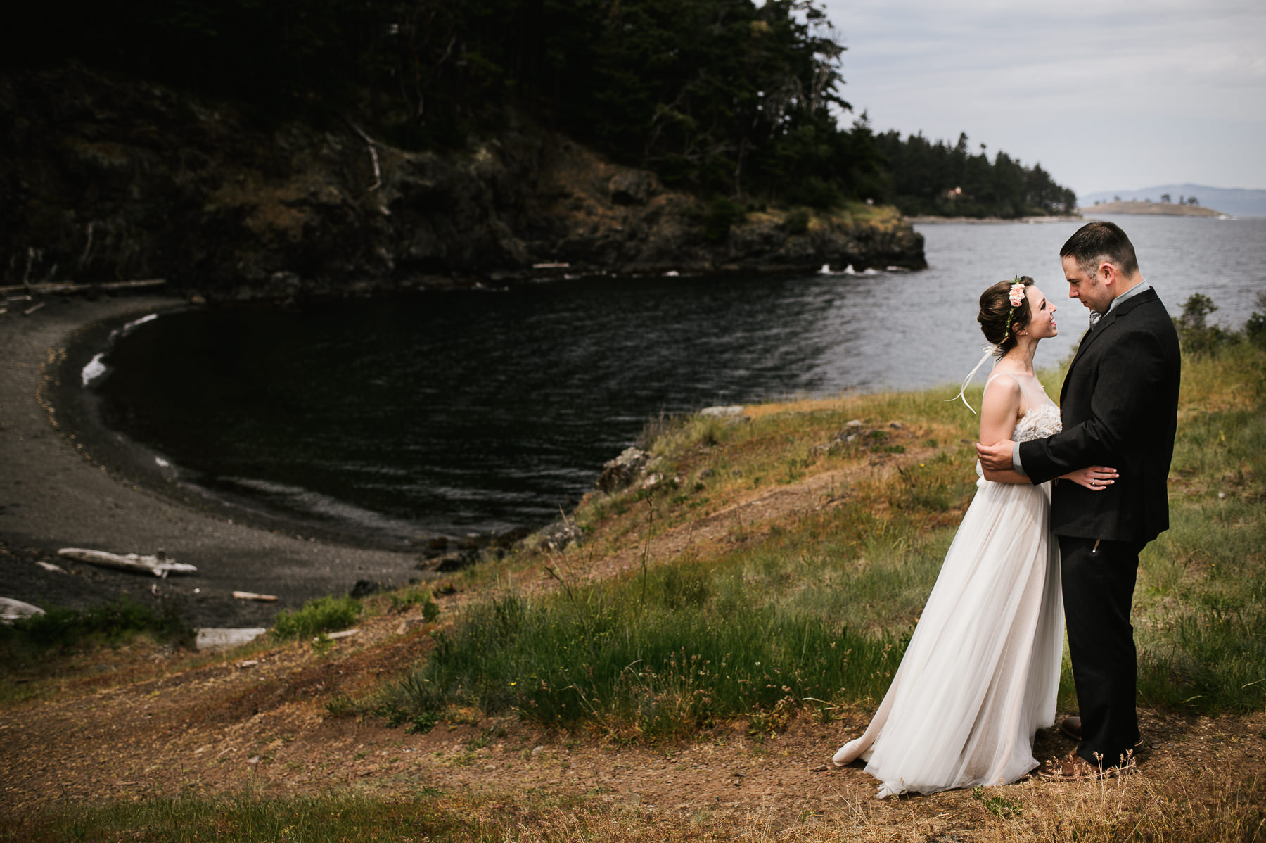 san juan island wedding portrait