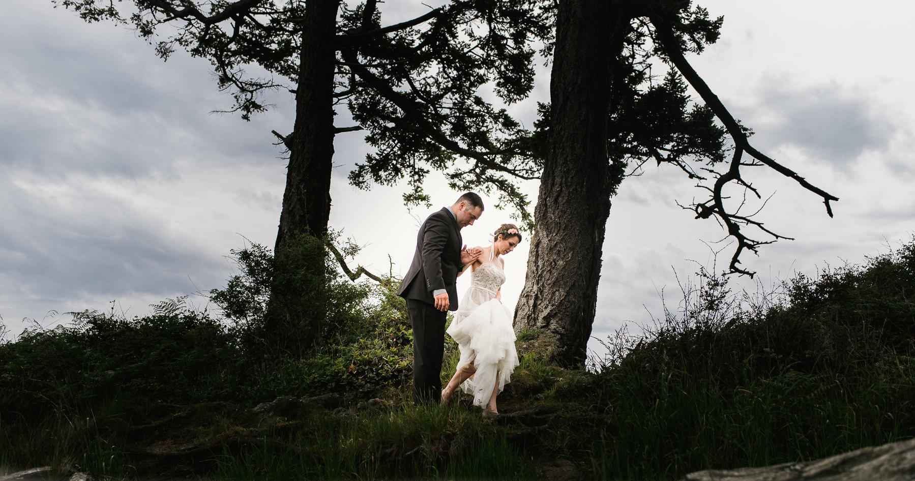 majestic san juan island wedding moment