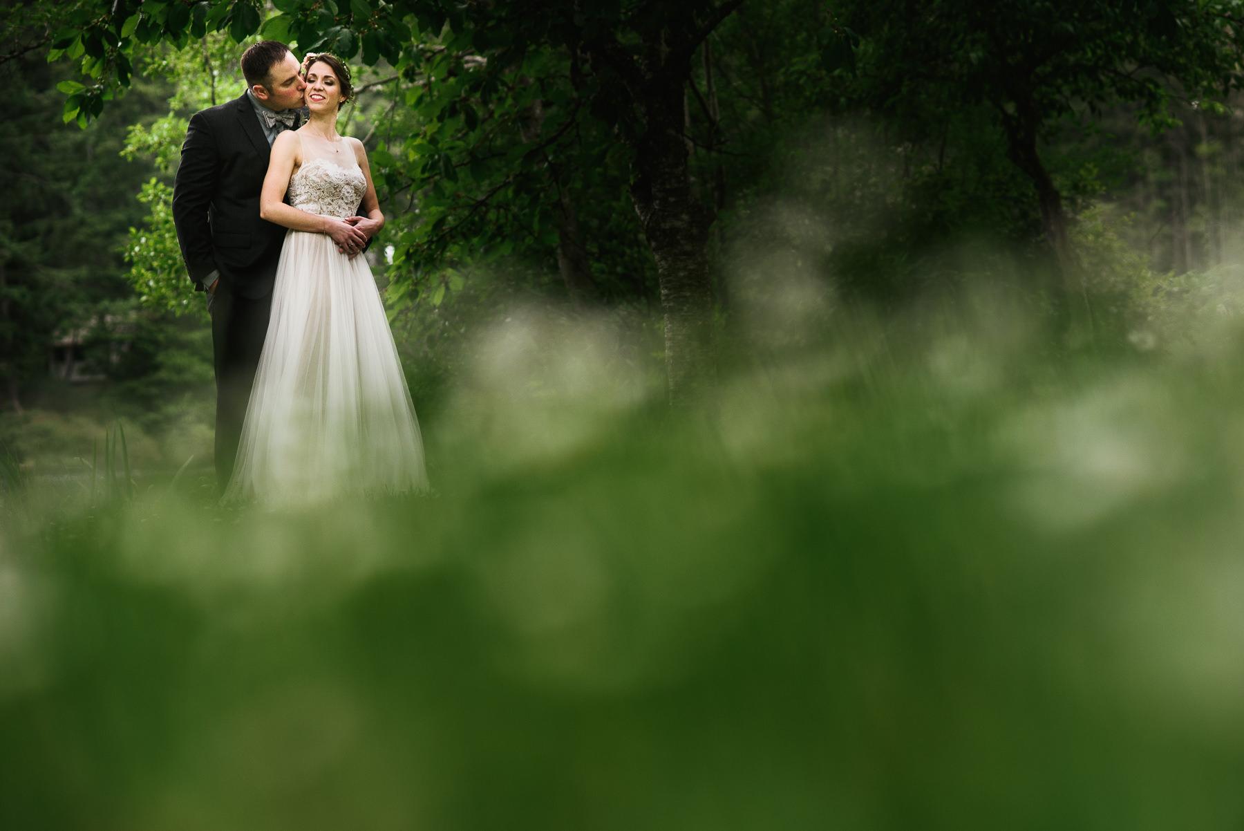 san juan island wedding lush portrait