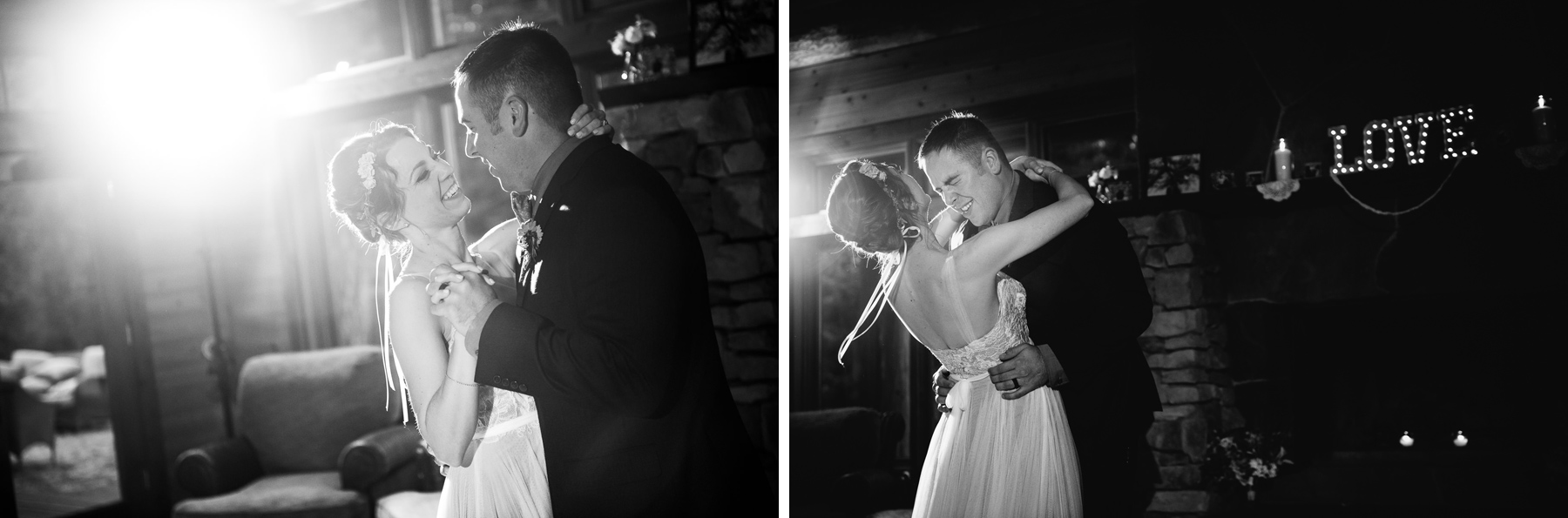 lake dale resort bride and groom first dance