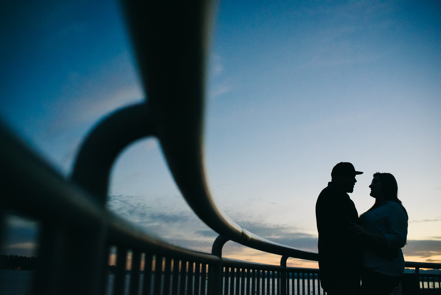 seattle sunset engagement session