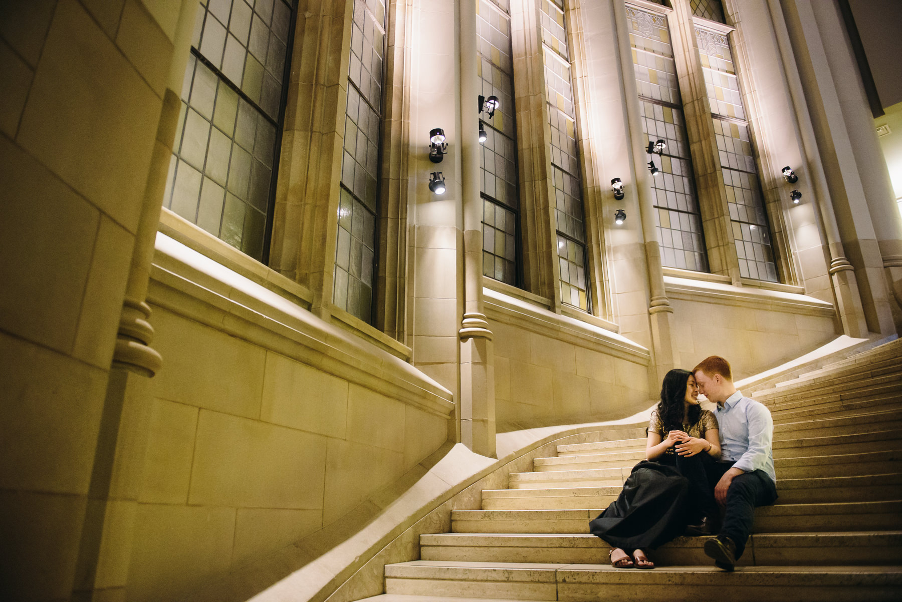 suzzallo grand staircase engagement session