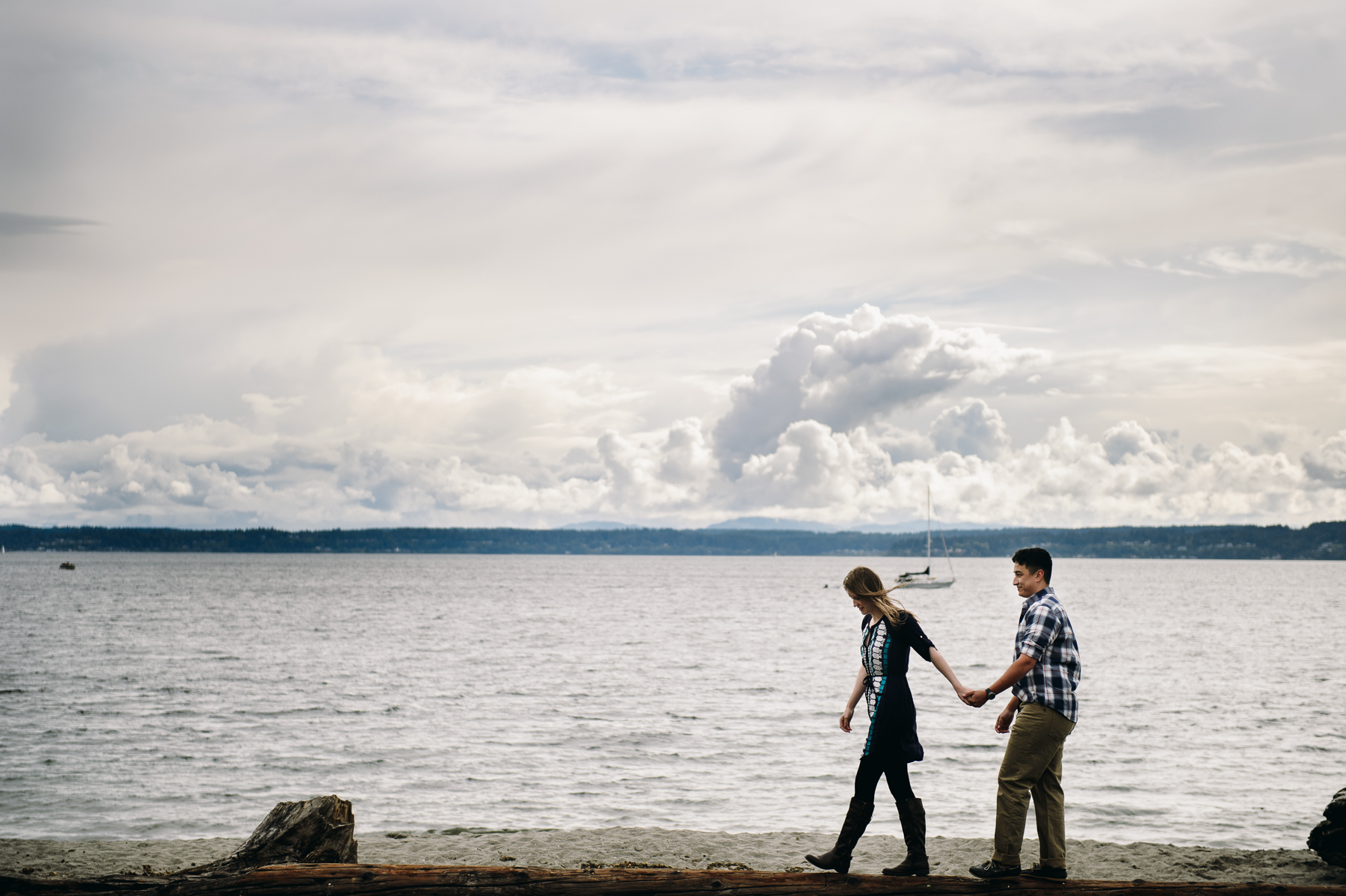 golden gardens engagement photos