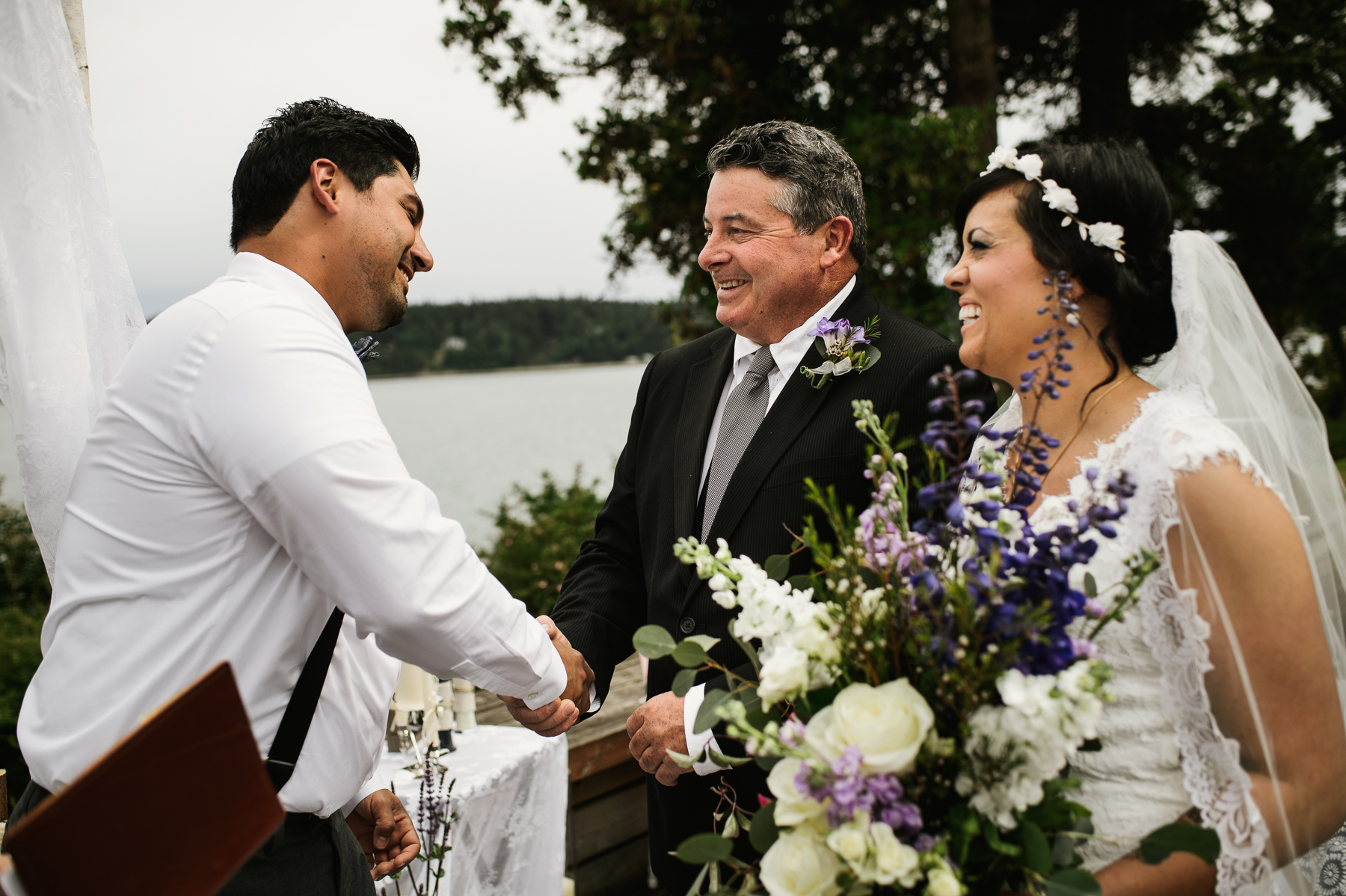 lopez island wedding ceremony