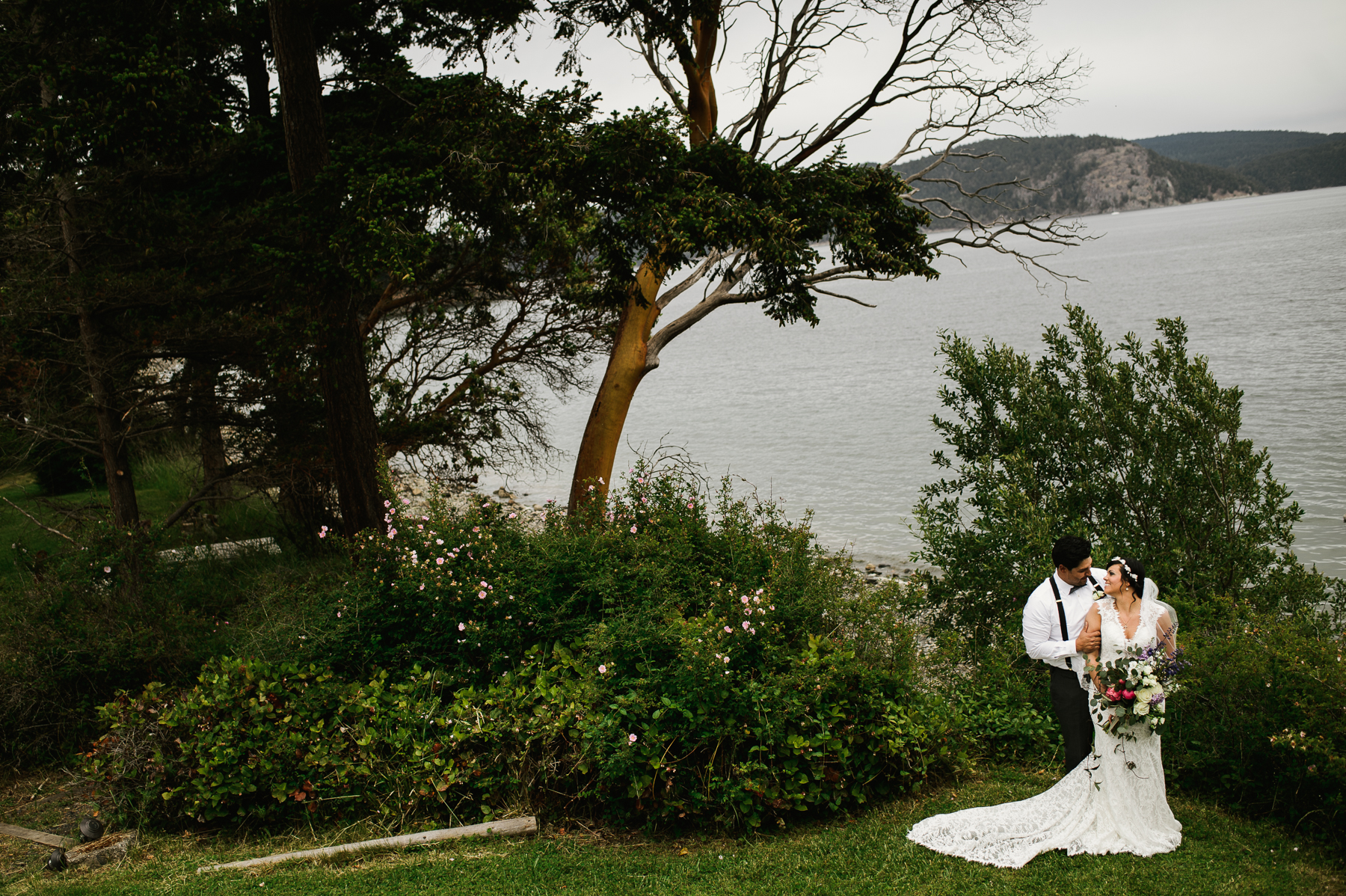 lopez island wedding portrait